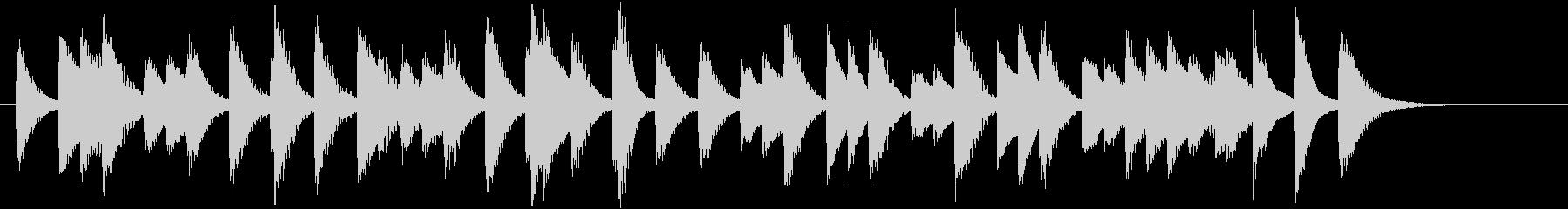 四季より「冬」モチーフのピアノジングルBの未再生の波形