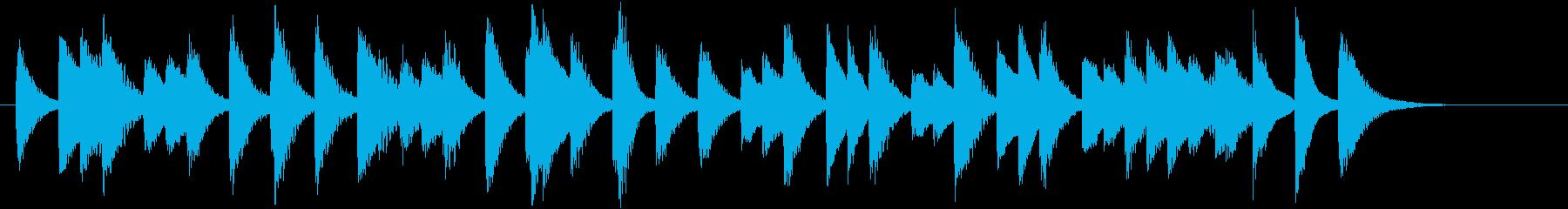 四季より「冬」モチーフのピアノジングルBの再生済みの波形