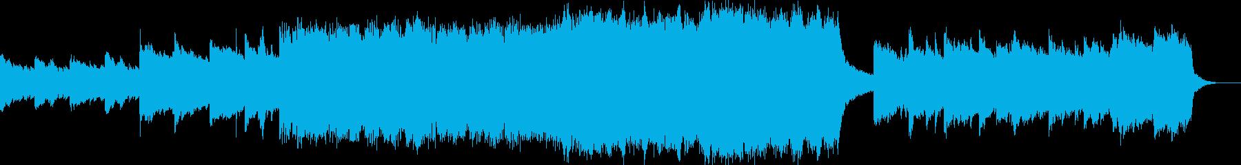 ストリングスとアコギの前向きなポップスの再生済みの波形