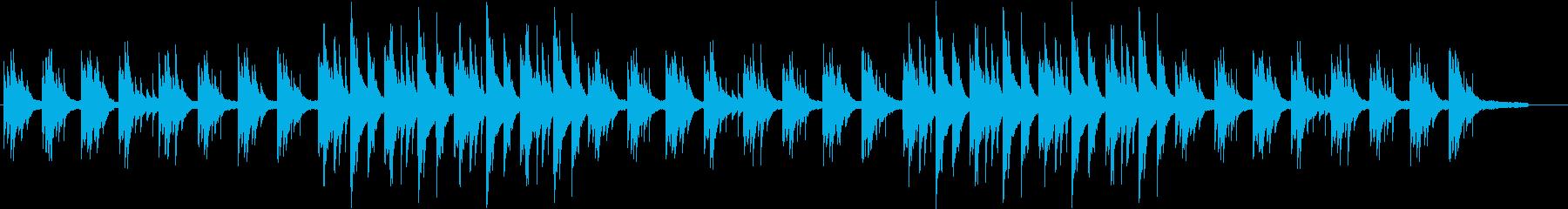木漏れ日をイメージしたヒーリングBGMの再生済みの波形