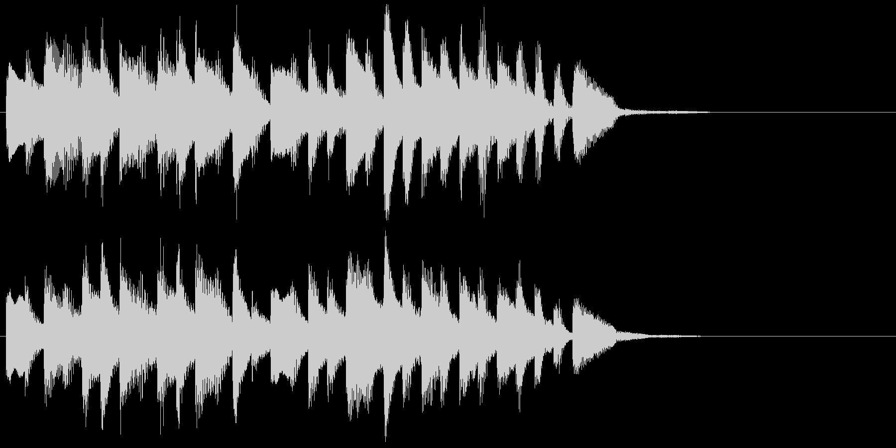 お風呂が沸く時の曲(ピアノソロ)ジングルの未再生の波形