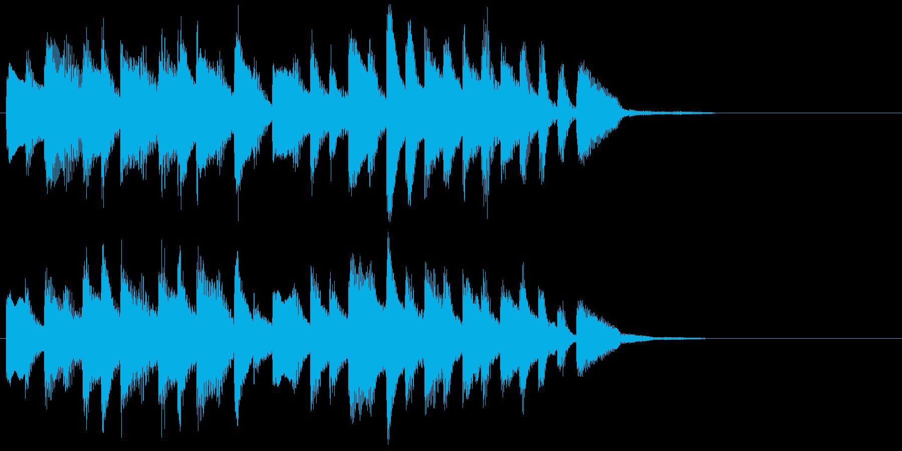 お風呂が沸く時の曲(ピアノソロ)ジングルの再生済みの波形