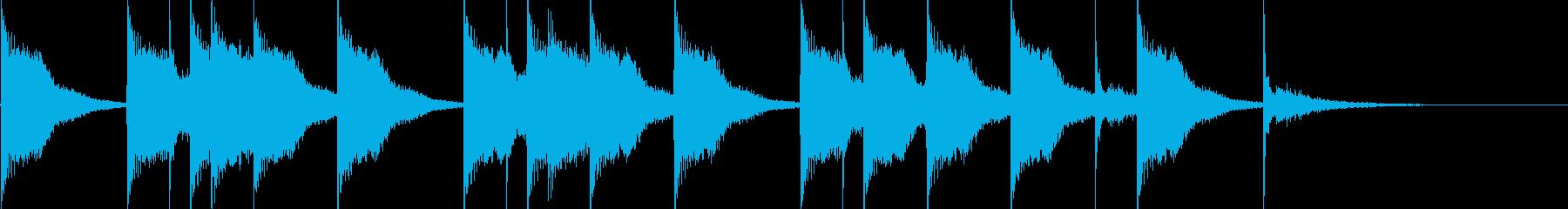 ドラム 戸惑う感じの再生済みの波形