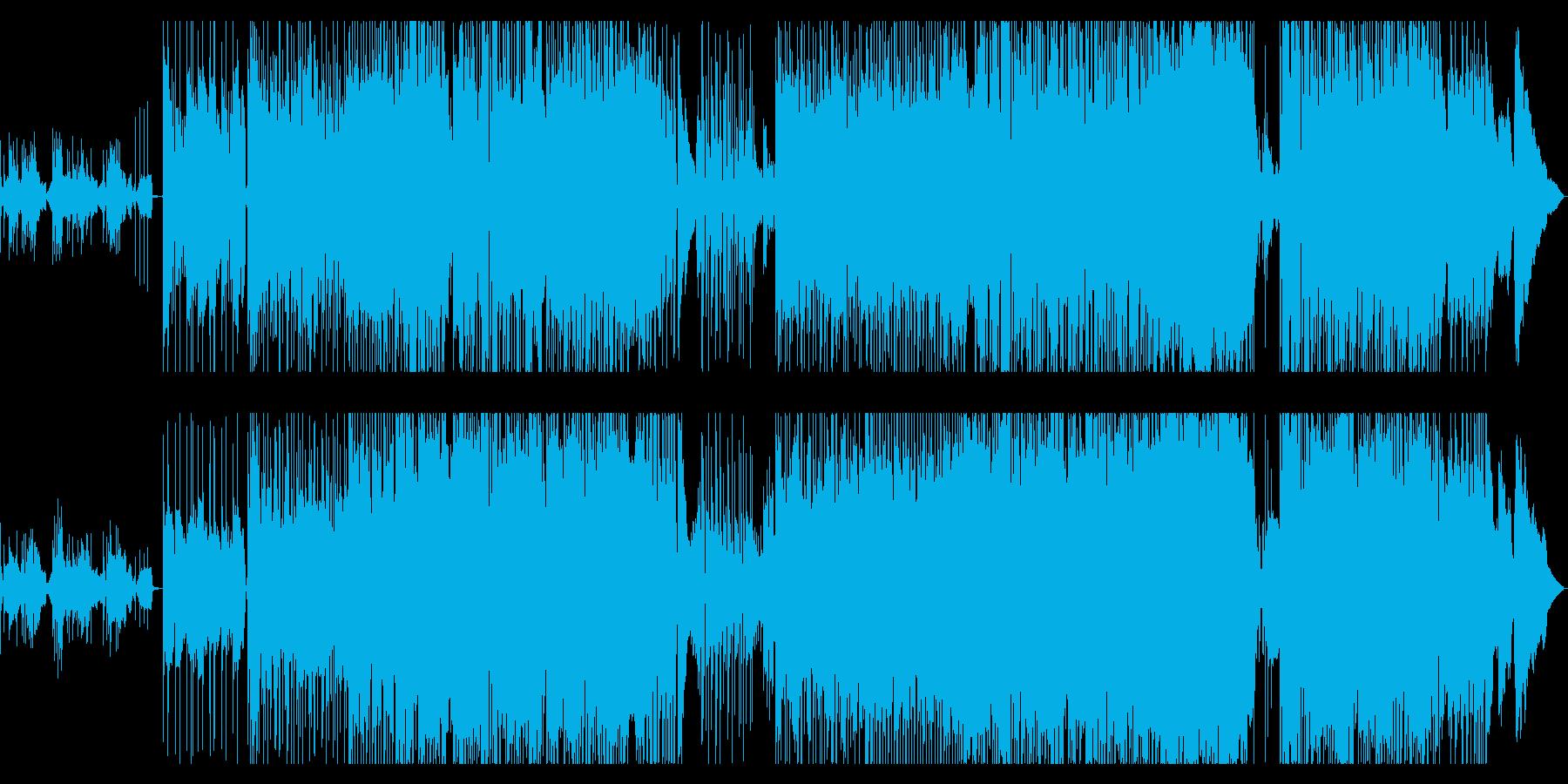 かわいいサウンドのBGMの再生済みの波形