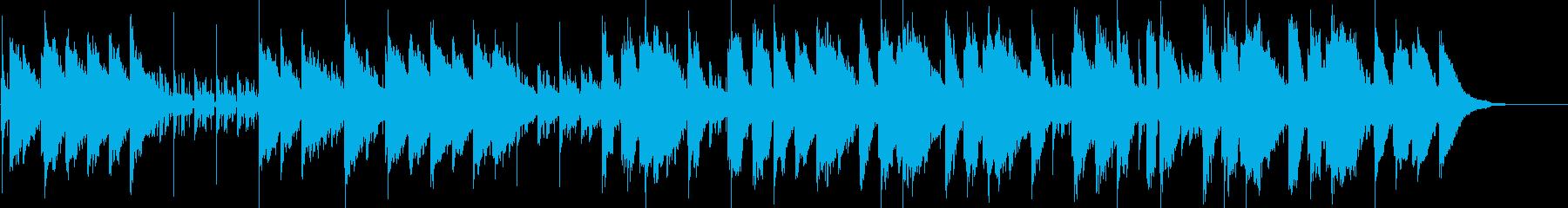 徐々に盛り上がるミディアムバラードの再生済みの波形