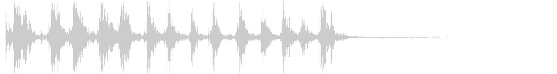 生録音のトイタンバリンの未再生の波形