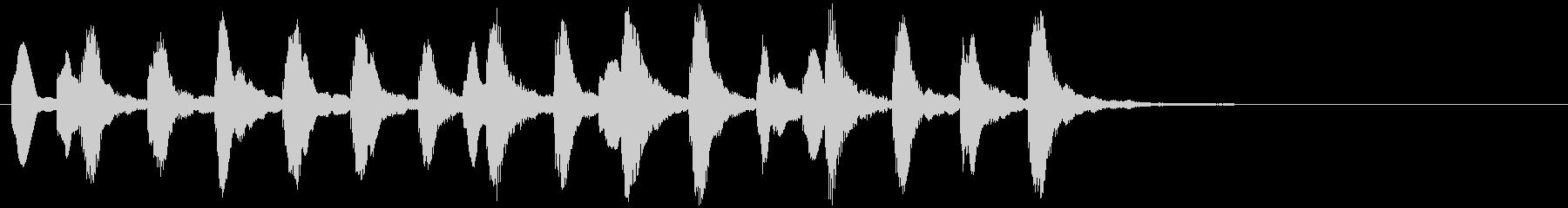 のほほんジングル035_おしまい+3の未再生の波形