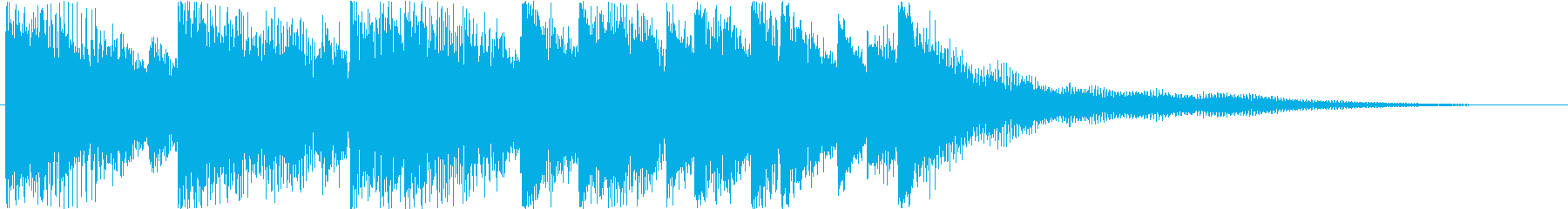 Sound logo, synth and impressive melody's reproduced waveform