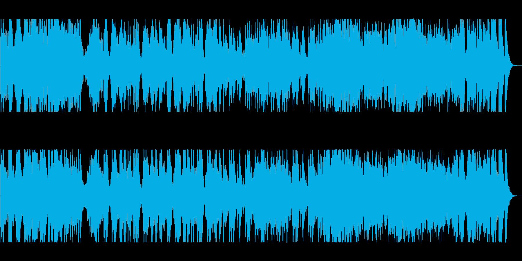 管楽器のメロディーが心地よい行進曲の再生済みの波形