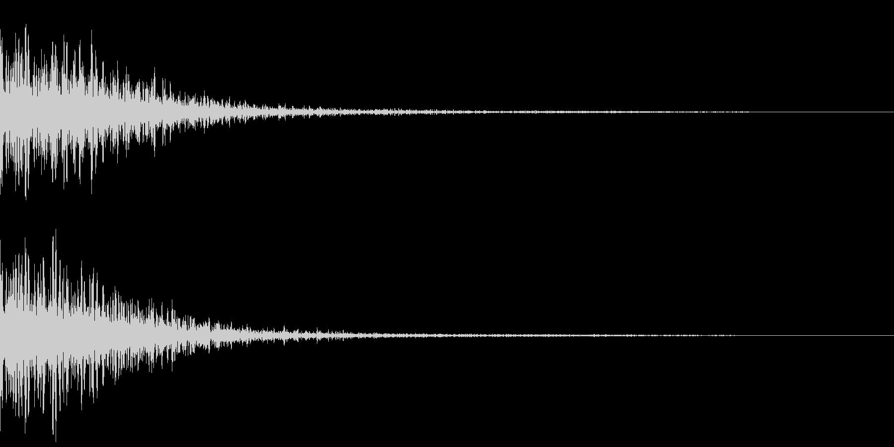 カジノスロット定番トップシンボル音の未再生の波形