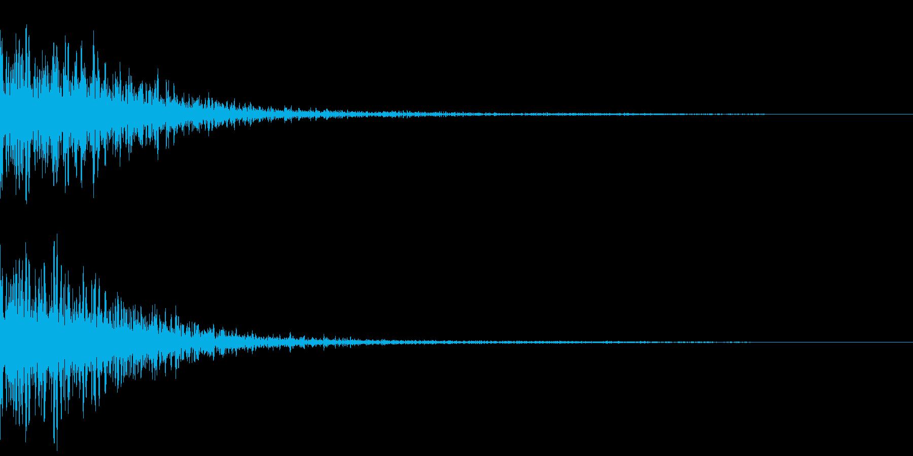 カジノスロット定番トップシンボル音の再生済みの波形