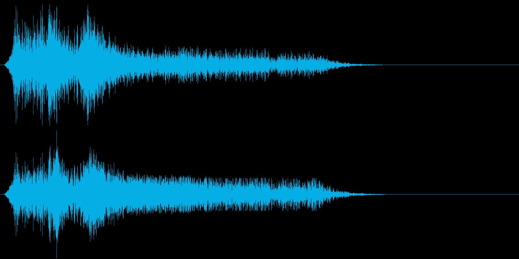 火;複数の大きなフレアバイ。の再生済みの波形