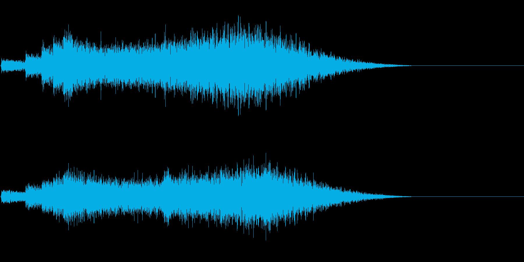 ちょっと怖いアイキャッチの再生済みの波形