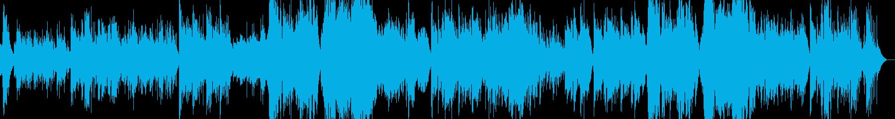 琴、琵琶、二胡のオリエンタルな音楽の再生済みの波形