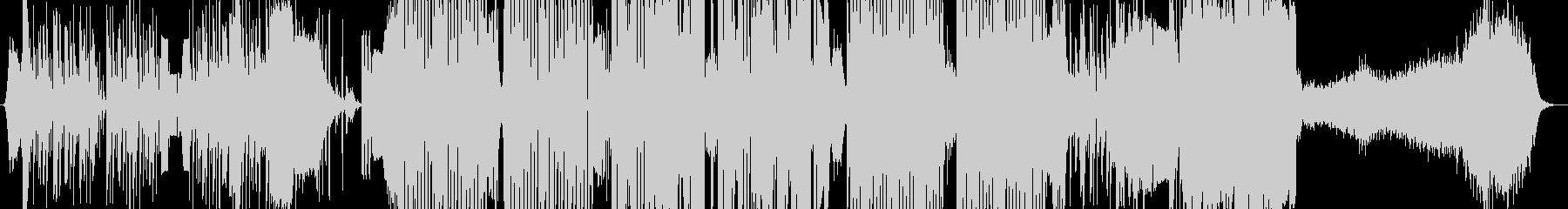 ドラムのDJスクラッチによるダンスBGMの未再生の波形
