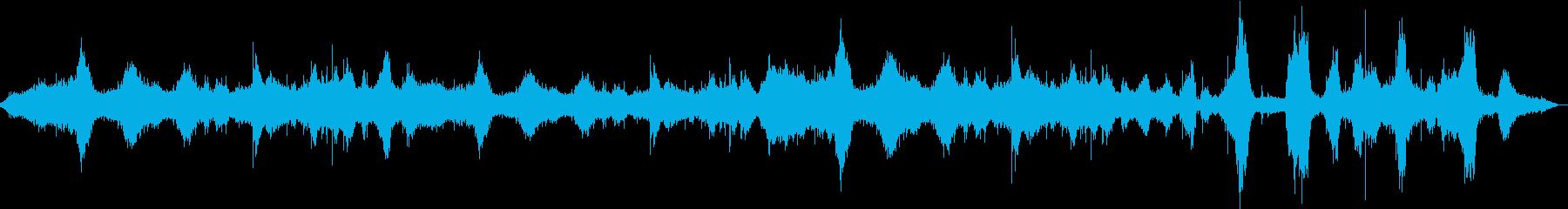 穏やかな波の音の効果音ですの再生済みの波形