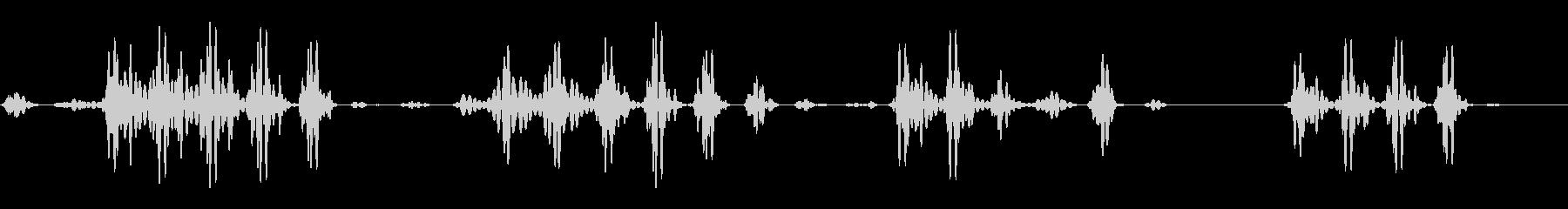 ドゥドゥドゥ(空気の揺れる音)の未再生の波形