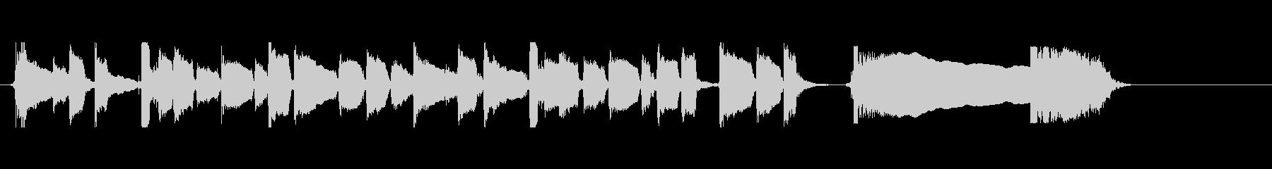 アコースティックギター 場面転換④ ソロの未再生の波形