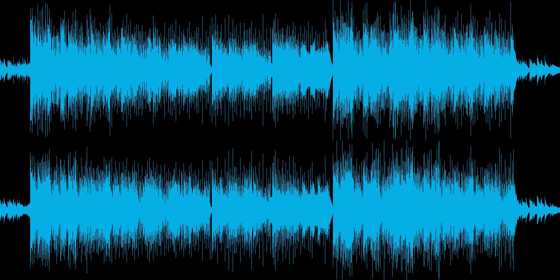 ゆるいカーブの再生済みの波形