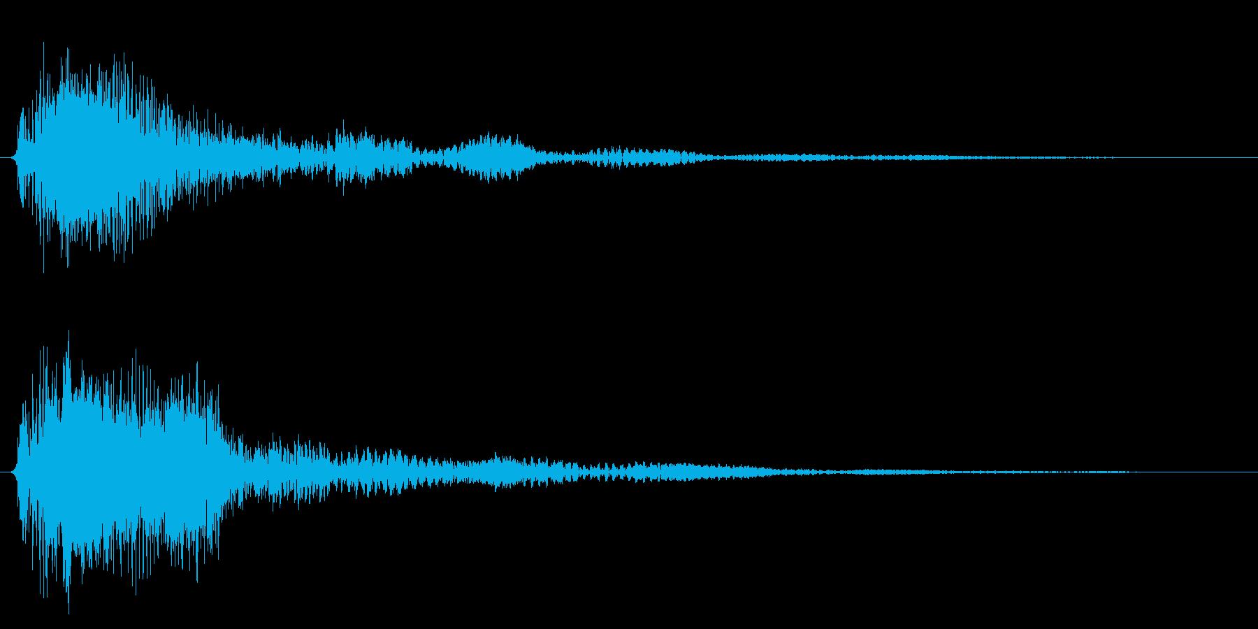 ブーン/ワープ/SF風の再生済みの波形