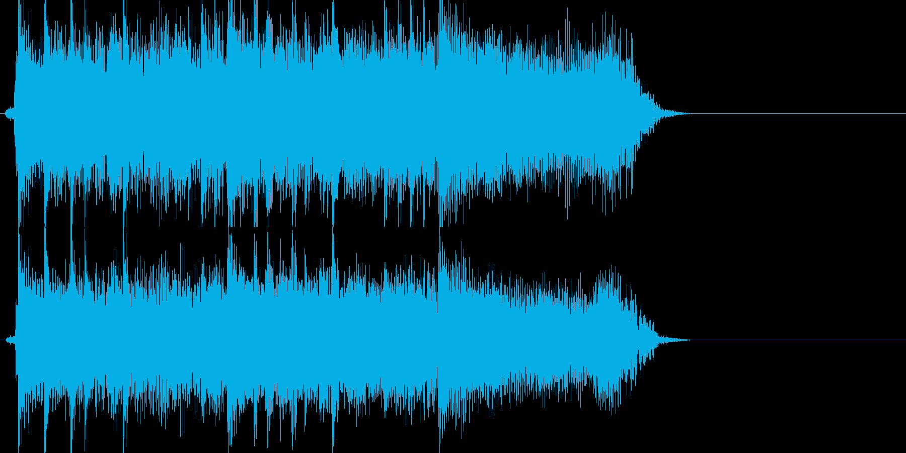 激しいギターロックジングルの再生済みの波形