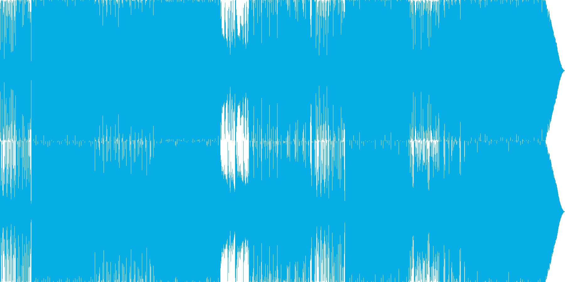 70'~80'年代のディスコ風04の再生済みの波形