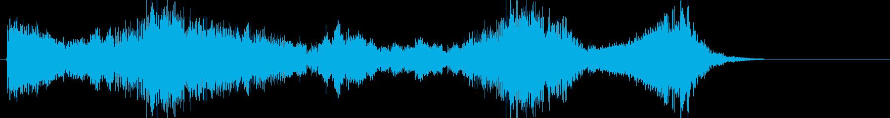 受賞発表時などのドラムロールの再生済みの波形