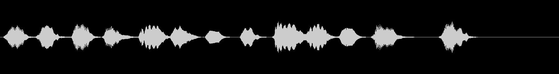 少しへたっぴなリコーダー・ジングルの未再生の波形