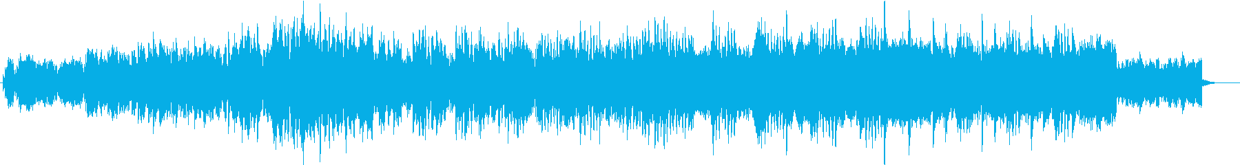 浮遊感、上昇感のある優しいエレクトロニカの再生済みの波形