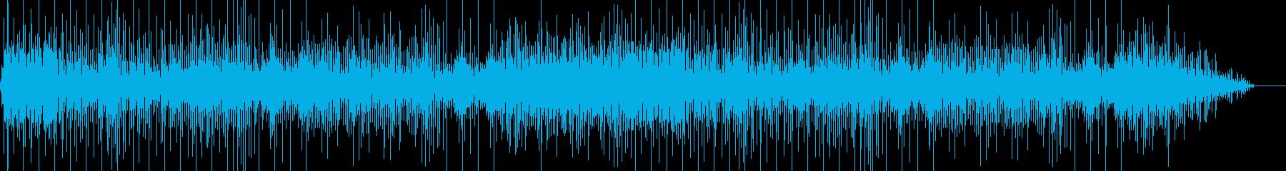 ゆったりした曲の再生済みの波形