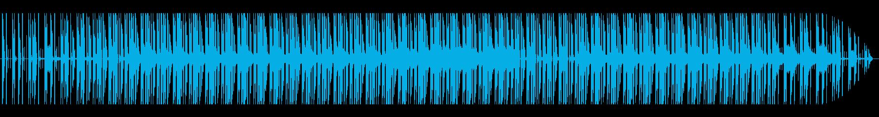 怪しい感じのサウンドの再生済みの波形