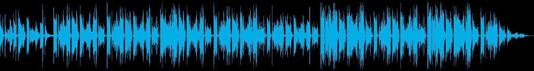 チルホップ ネオソウルギターとサックスの再生済みの波形