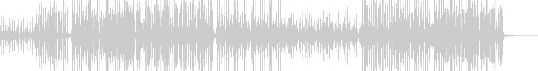心地よい音色とテンポのトロピカルハウスの未再生の波形