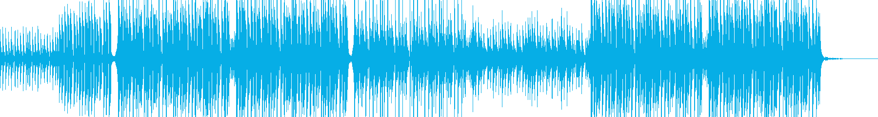 心地よい音色とテンポのトロピカルハウスの再生済みの波形
