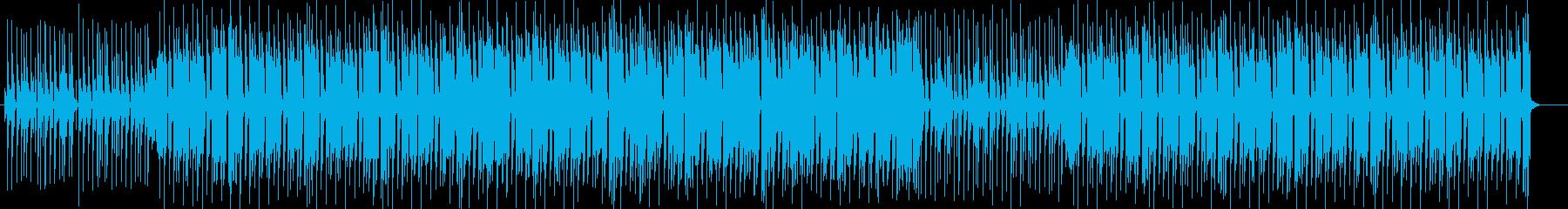 宇宙的なシンセサイザーポップサウンドの再生済みの波形