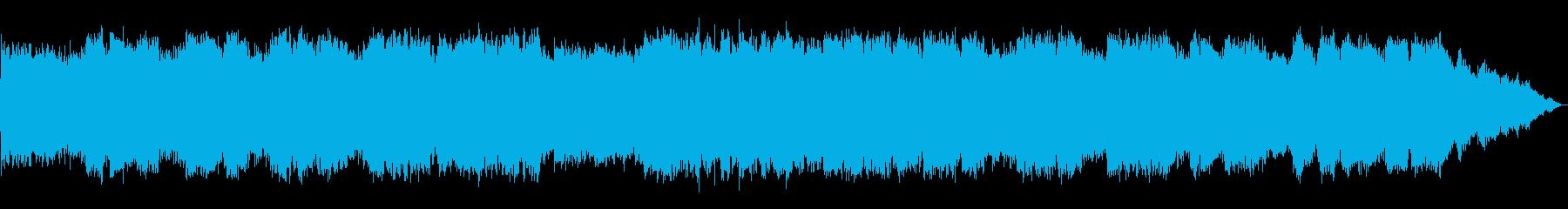 エスニックな弦楽器と笛の即興音楽の再生済みの波形