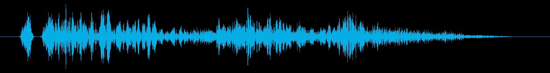 土床へのダウン、足音、落下音に最適です!の再生済みの波形