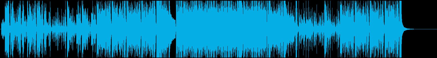 勢いのある幻想的なピアノとドラムの楽曲の再生済みの波形