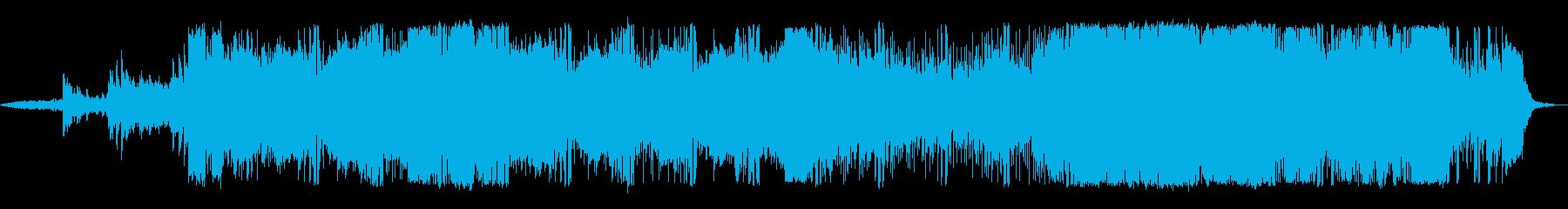 勢いがある躍動的なテクノの再生済みの波形
