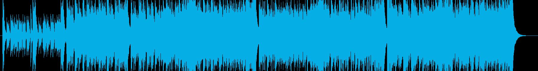 アコギとフルートが絡み合うアイリッシュ曲の再生済みの波形