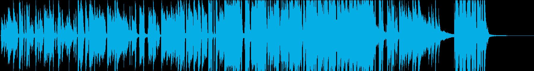 レトロなピアノとビッグバンドジャズの再生済みの波形