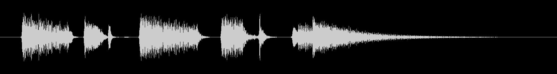 切ないアコギのジングルの未再生の波形