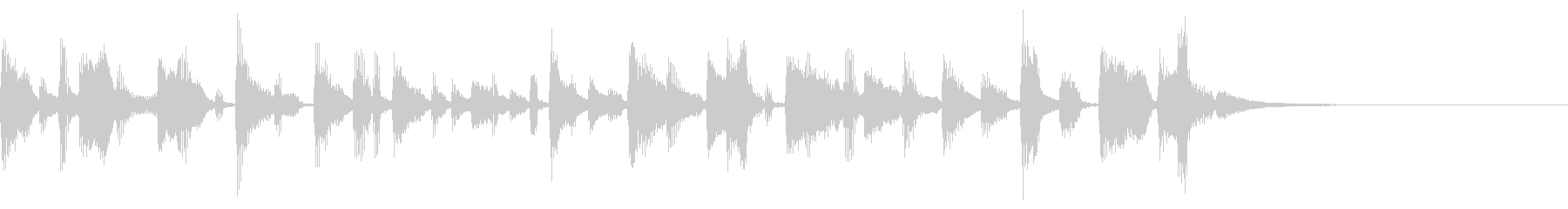 ラジオ シンプル ジングル の未再生の波形