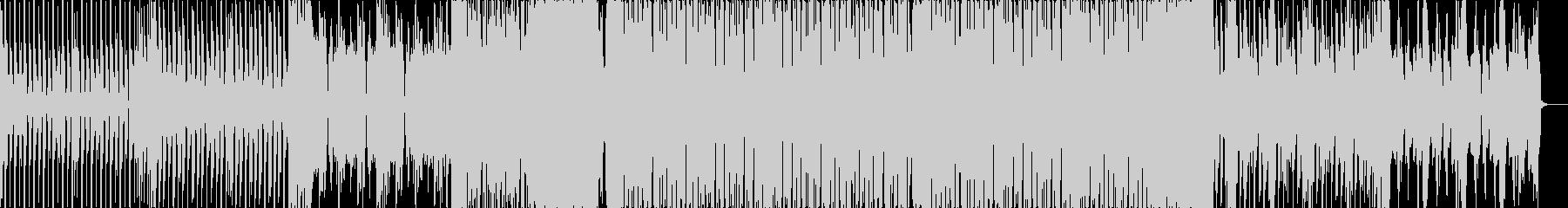 テクノっぽいベースハウスの未再生の波形
