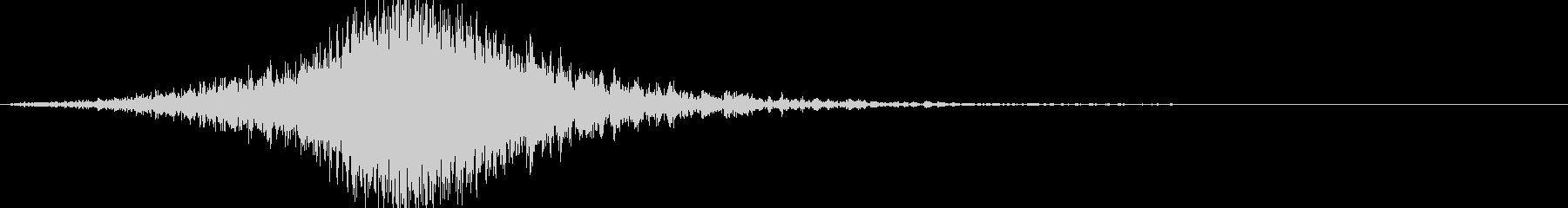 幽霊出現インパクトのある怖い音(ホラー7の未再生の波形