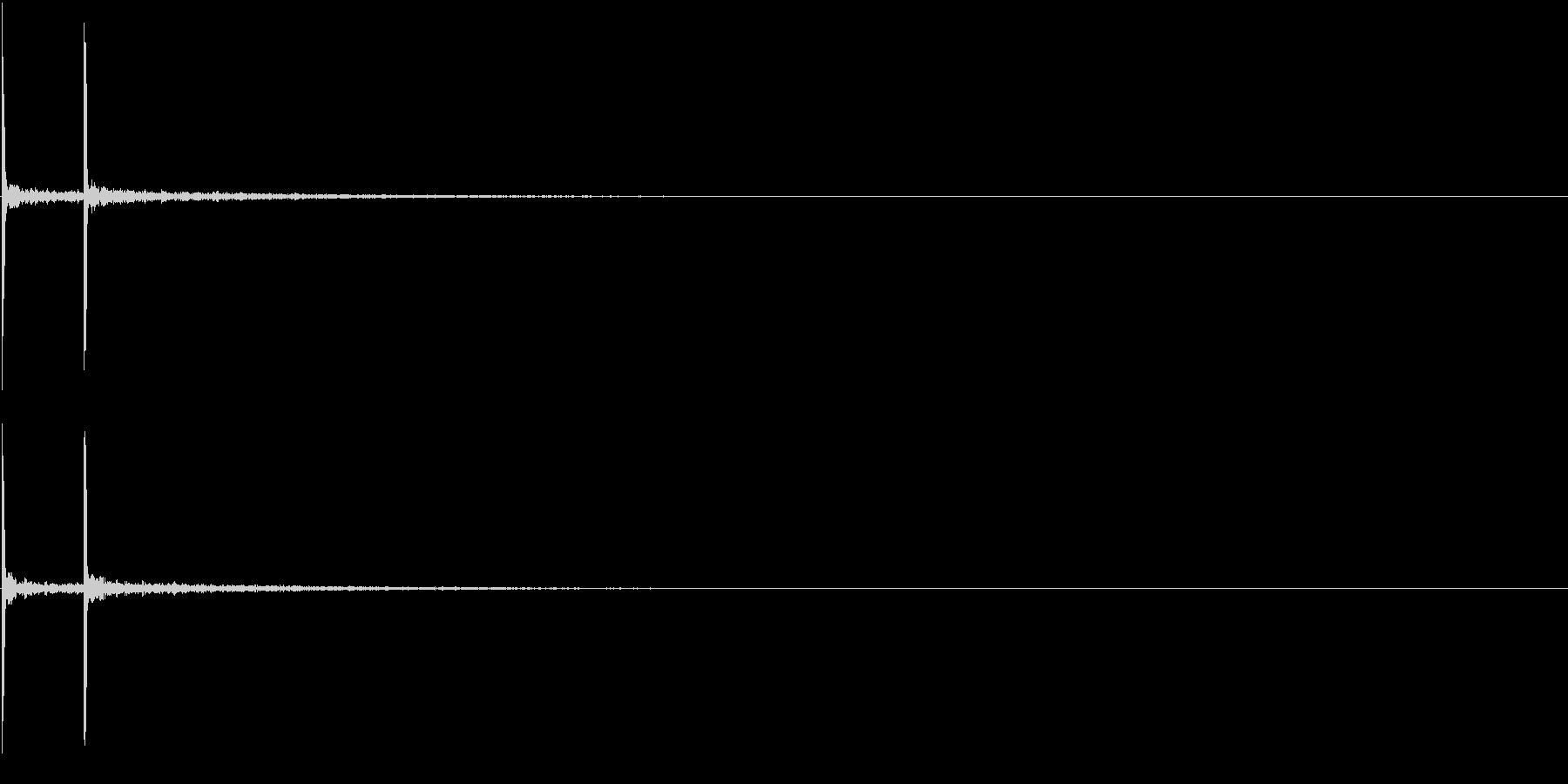 Japan 和風 拍子木風SFX 単発の未再生の波形