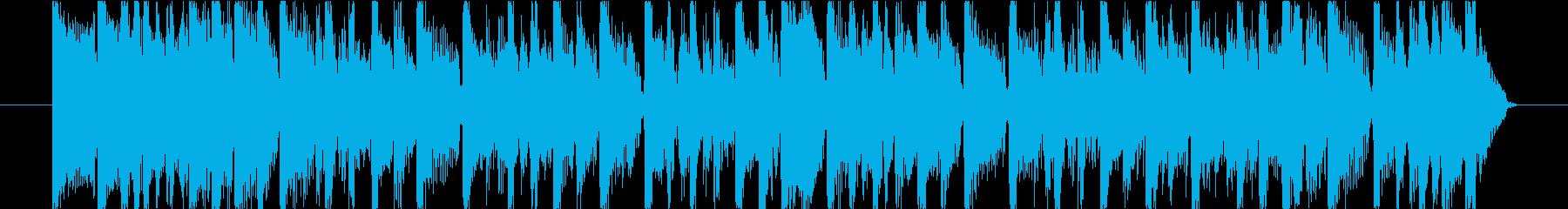 15秒CM向け!ほどよく陽気な楽曲!の再生済みの波形