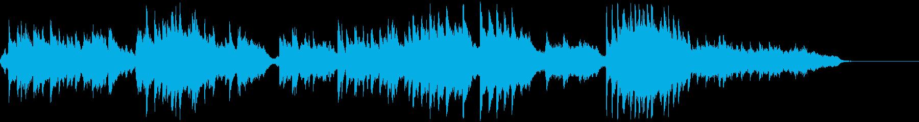 ほのぼのした綺麗な旋律の優しい音楽 の再生済みの波形