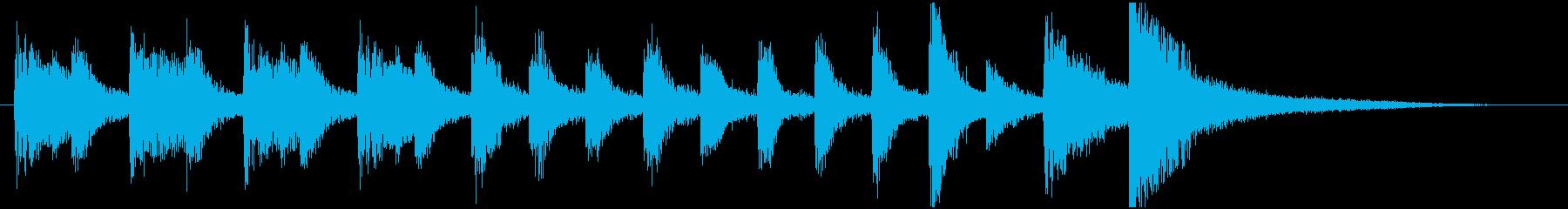 ポップなピアノトリオのサウンドロゴの再生済みの波形