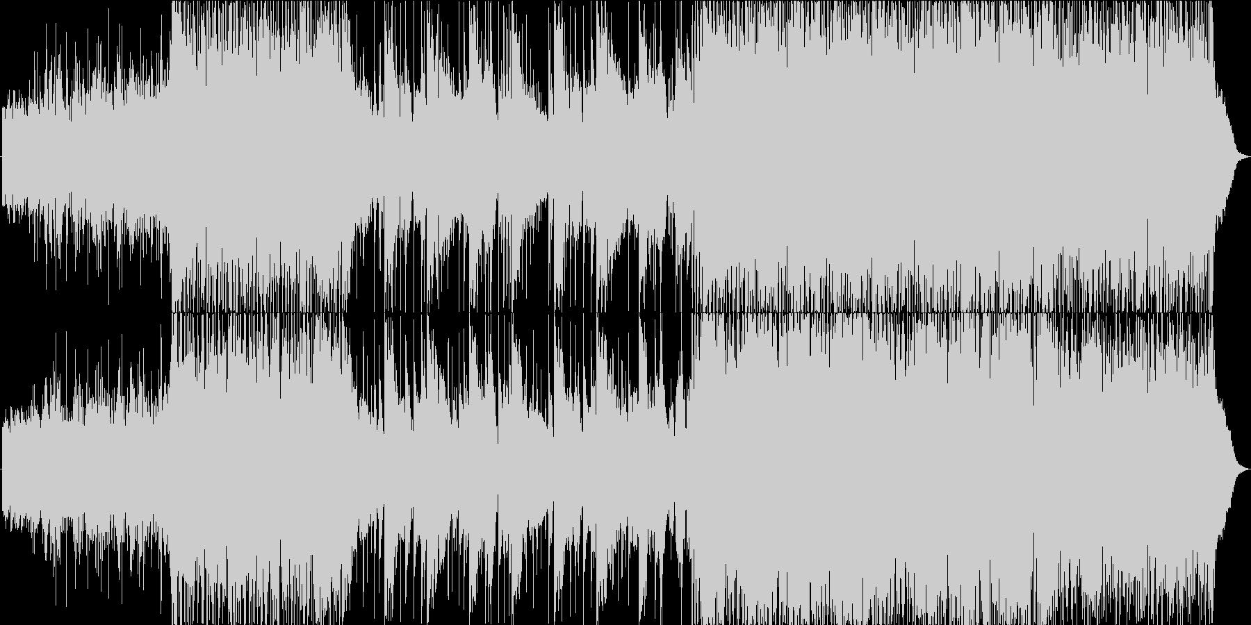 和風でエレクトロニカの躍動的な楽曲の未再生の波形